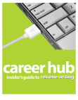 careerhub guide to resume writing