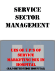 use of 7ps of service marketing mix in hospital