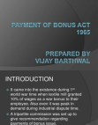 payment of bonus act