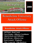 2000 Benedictine University Attack Option Offense  26 Slides