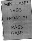 1995 Kansas City Chiefs Mini Camp Offense  39 Pages