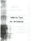 1998 Virginia Tech 4446 Defense