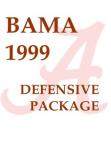 1999 Alabama Crimson Tide 43 Defense  35 Pages
