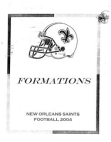 2005 New Orleans Saints Offense  146 Pages