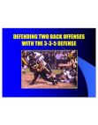 Defending 2 Back Offenses With the 335 Defense by Dave Brown