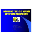 Installing the 335 Defense at the HS Level by Dave Brown