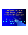 The Spread Multiple West Coast Offense