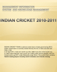 indian cricket 2010-2011
