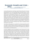 Economic Growth and Crisis - 2012 - An Insight