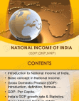natinal income of INDIA