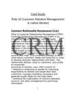 Case Study on CRM in Retail Sector