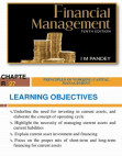 PRINCIPLES OF WORKING CAPITAL MANAGEMENT