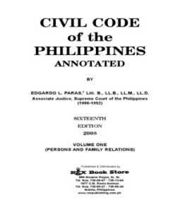 civil code of the philippines Republic acts - an act to ordain and institute the civil code of the philippines.