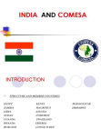 PROJECT ON TRADE RELATIONS BETWEEN INDIA AND COMESA