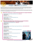 SAGES 2012 Resident Course Flyer